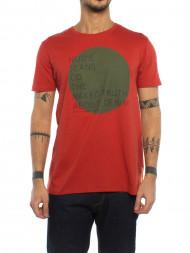 Levi's / Naked circle t-shirt aurora red
