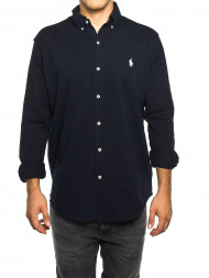 LES DEUX  / Polo classic ls shirt navy