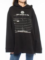 / Graphic ls hoodie black