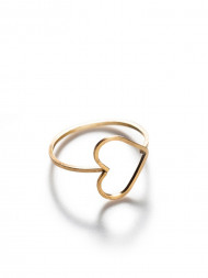 by boe / Heart ring gold