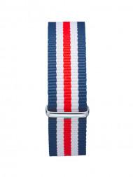 mint. / Nylon strap 40 silver racer