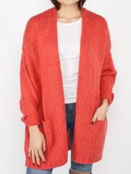 American Vintage / Boo knit cardigan rhubarbe