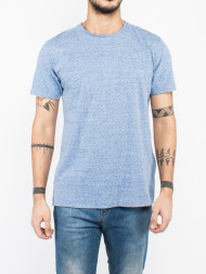 SELECTED HOMME / Rolled edges t-shirt bright blue