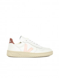 Veja / V10 leather sneaker white petal