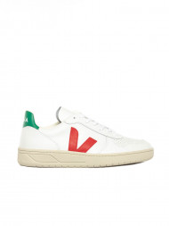 Veja / V10 leather sneaker white emeraude