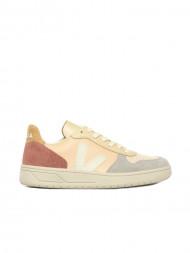 Veja / V10 leather sneaker multico rose