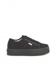 victoria / Blucher lona shoes negro