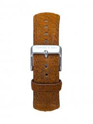 KAPTEN & SON / Leather strap 36 silver vintage brown