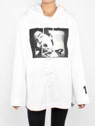 adidas / Front lacing hoodie white