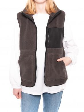Franita vest teddy twist antracit