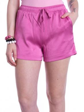 Abigail crepe satin shorts pink
