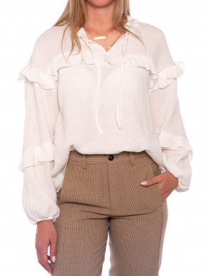 Samoha renetta blouse 800 white