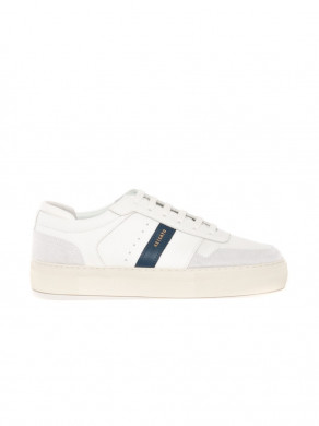 Detailed platform sneaker white navy