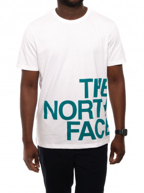 Mens graphic tee white green