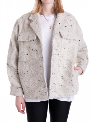 Leon jacket white tweed