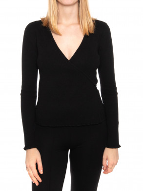 Tilly wrap blouse black