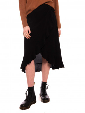 Limon l wrap skirt black