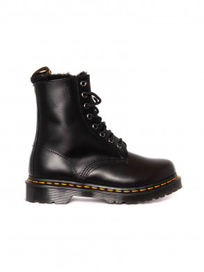 1460 serena fur boots black