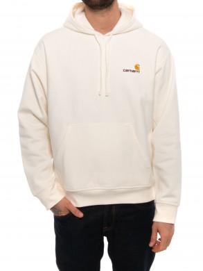 Hooded script sweater wax
