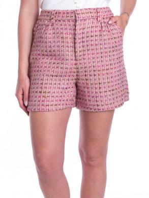 Arina multi boucle shorts pink