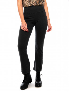 Crop leggings acid wash black