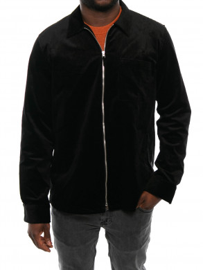 Zip shirt black