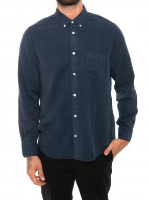 Manza slim shirt navy blue