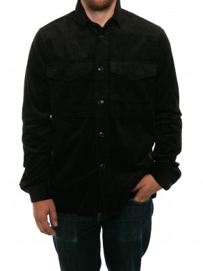 Waltones cord shirt black