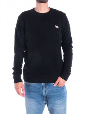 Baby fox patch pullover black