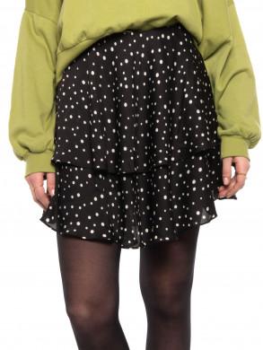 Aiden dot skirt black