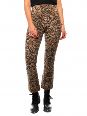 Leo crop leggings brown