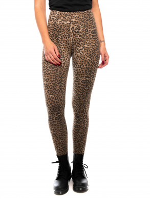Leo slim leggings brown