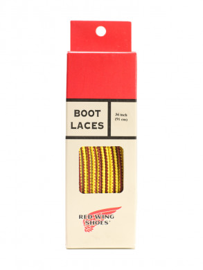 Boot laces 36inch tan/gold