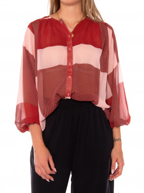 Jolana laurette shirt print red