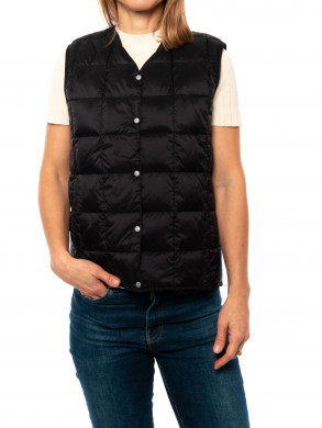 V-neck down vest black