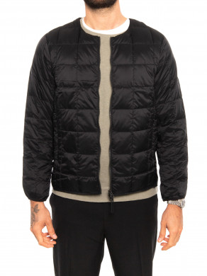 Crew neck down jacket black