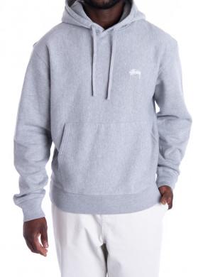 Stock logo hoodie grey heather