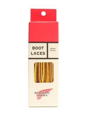 Boot laces 48inch tan/gold