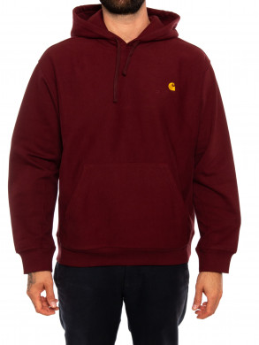Hooded script sweater bordeaux
