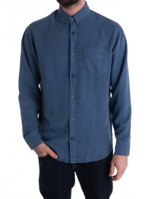 Levon shirt washed navy