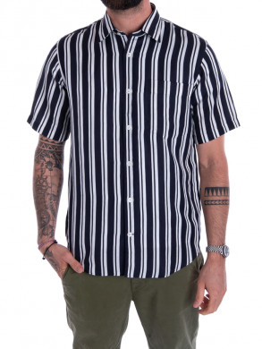 Errico shirt  navy stripe