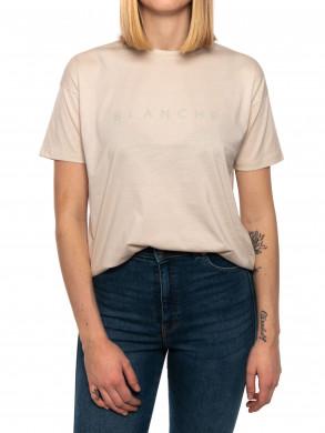 Main contrast t-shirt white sand
