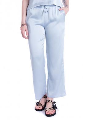 Kuli crepe pyjama pants blue