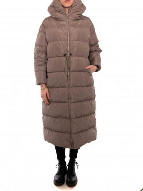 Big cloud coat tortora