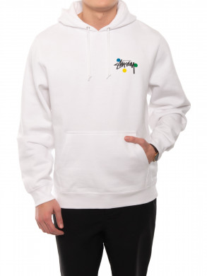 Dot collage hoodie white
