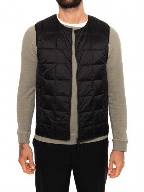 Crew neck down vest black