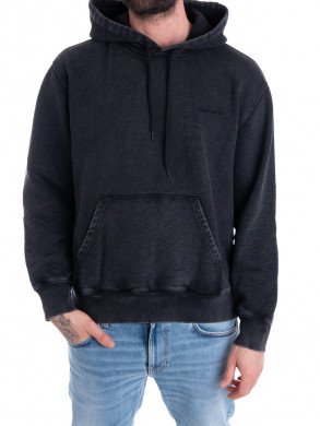Hooded mosby sweater black