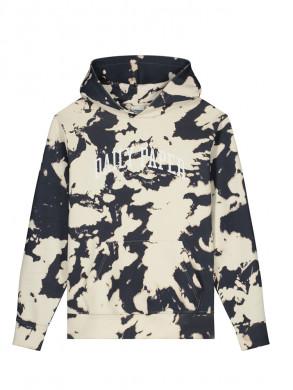 Rehim hoodie ecru dk navy