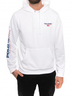 Neon fleece hoodie white