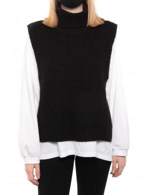 Jamie knit waistcoat black